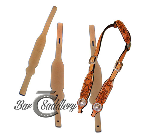 Premium Quality Headstall Blanks, die cut from Hermann Oak or Wickett & Craig leather