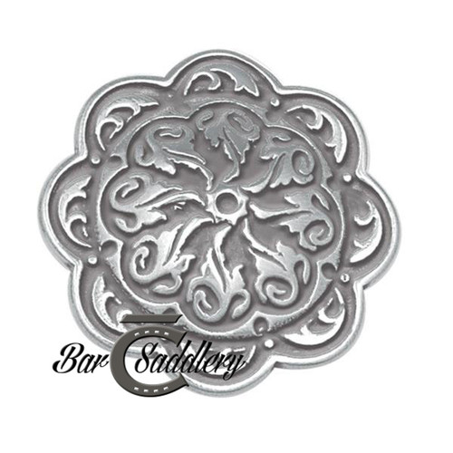 Floral Engraved Concho Stainless Steel