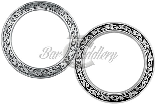 Floral Stainless Steel Breast Collar Ring