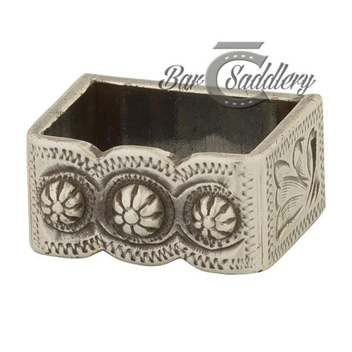 Loop Berry concho buckle antique silver