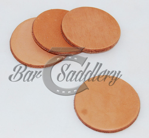 "4.5"" Die Cut circles great for large coasters.  Vegetable tanned Hermann Oak or Wickett & Craig tooling leather"