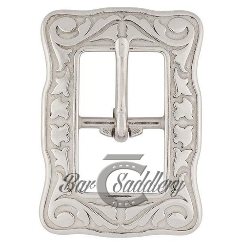 Floral Engraved Buckle Stainless