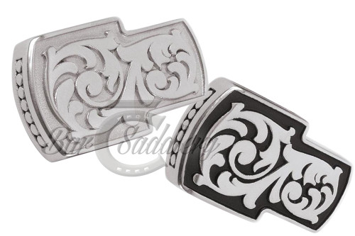 Floral Headstall Ear Slide Stainless Steel