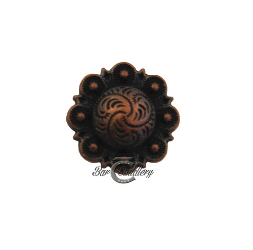 Antique Copper Berry Concho 3/4""