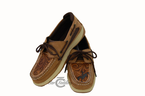 46253c4a0d Sewn onto your shoes · Custom tooled leather shoe   moc   Sperry toppers  with bronc. Sewn onto your shoes
