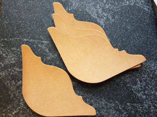 Leather saddle pad or blanket corner plates for tooling, stamping, dying, painting.  Great for awards!