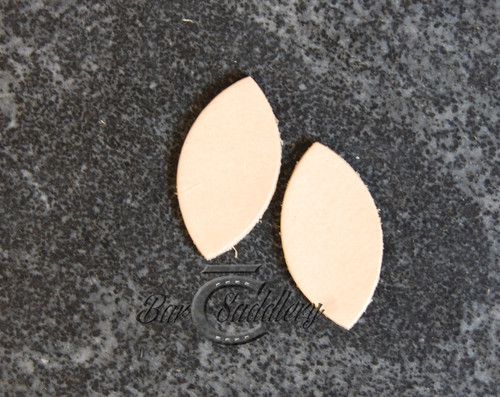 Leaf shape vegetable tanned earring blanks DIY