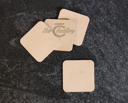 Square Coaster Blanks DIY Vegetable Tanned