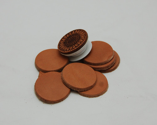 Phone Grip Die Cut Leather Circles