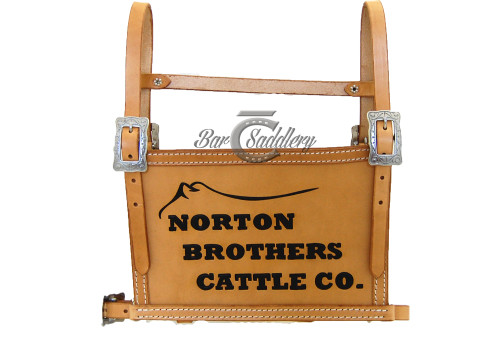Custom Leather Livestock Exhibitor Show Number Harness - Ranch Brand or Logo