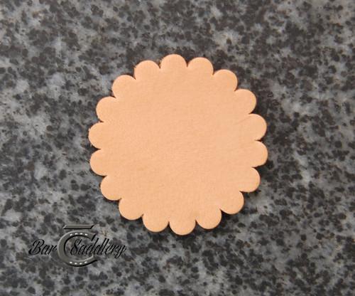 """Leather concho 1.75"""" Hermann Oak"""