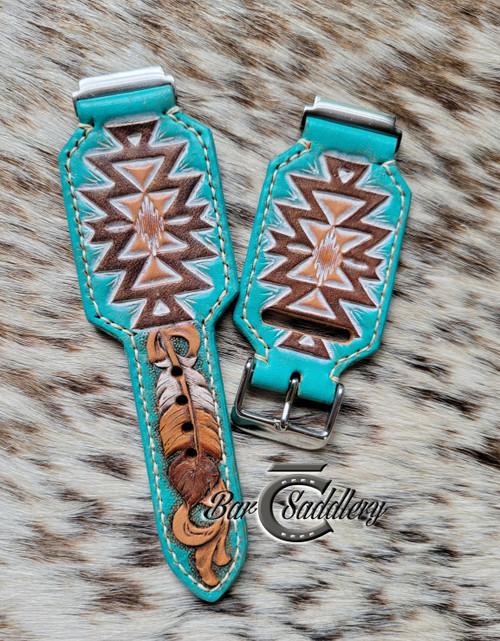Turquoise Aztec design