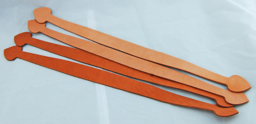 "17"" Leather handles.  Perfect for custom leather bags and cases"