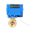 """U.S. Solid Motorized Ball Valve- 1/2"""" Brass Electrical Ball Valve with Full Port, 9-24 V AC/DC, 2 Wire Auto Return, Normally Open"""