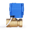 """U.S. Solid Motorized Ball Valve- 3/4"""" Brass Electrical Ball Valve with Standard Port, 9-24 V AC/DC, 2 Wire Auto Return, Normally Open"""