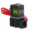 """USSOLID Electric Solenoid Valve- 1/4"""" 110V AC Solenoid Valve Plastic(Nylon) Body Normally Closed, NBR SEAL"""