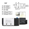 "U.S. Solid 1/8"" 5 Way 2 Position Pneumatic Electric Solenoid Valve DC 24 V"