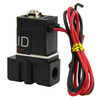 "USSOLID Electric Solenoid Valve- 1/8"" 12V DC Solenoid Valve Plastic(Nylon) Body Normally Closed, NBR SEAL"