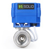 """U.S. Solid Motorized Ball Valve- 1"""" Stainless Steel Electrical Ball Valve with Full Port, 9-24 V DC, 2 Wire Reverse Polarity"""