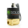"""U.S. Solid Electric Solenoid Valve- 1/4"""" 24V DC Solenoid Valve Brass Body Normally Closed, VITON SEAL"""