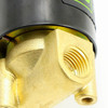 "USSOLID Electric Solenoid Valve- 1/4"" 24V DC Solenoid Valve Brass Body Normally Closed, VITON SEAL"