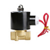"""USSOLID Electric Solenoid Valve- 3/8"""" 24V AC Solenoid Valve Brass Body Normally Closed, VITON SEAL"""