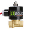 """USSOLID Electric Solenoid Valve- 3/8"""" 110V AC Solenoid Valve Brass Body Normally Closed, VITON SEAL"""