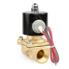 "USSOLID Electric Solenoid Valve- 3/4"" 24V AC Solenoid Valve Brass Body Normally Closed, VITON SEAL"