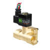 "USSOLID Electric Solenoid Valve- 3/4"" 110V AC Solenoid Valve Brass Body Normally Closed, Pilot Type, VITON SEAL"
