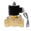 "USSOLID Electric Solenoid Valve- 1"" 24V DC Solenoid Valve Brass Body Normally Closed, VITON SEAL"