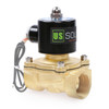 """U.S. Solid Electric Solenoid Valve- 1"""" 24V DC Solenoid Valve Brass Body Normally Closed, VITON SEAL"""