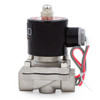 "U.S. Solid Electric Solenoid Valve- 1/2"" 24V AC Solenoid Valve Stainless Steel Body Normally Closed, VITON SEAL"