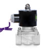 """U.S. Solid Electric Solenoid Valve- 3/4"""" 12V DC Solenoid Valve Stainless Steel Body Normally Closed, VITON SEAL"""