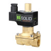 """U.S. Solid Electric Solenoid Valve- 1/2"""" 12V DC Solenoid Valve Brass Body Normally Open, NBR SEAL"""