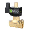 """U.S. Solid Electric Solenoid Valve- 1/2"""" 24V AC Solenoid Valve Brass Body Normally Open, NBR SEAL"""