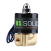 "USSOLID Electric Solenoid Valve- 1/8"" 12V DC Solenoid Valve Brass Body Normally Closed, NBR SEAL"