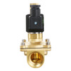 "U.S. Solid Electric Solenoid Valve- 1"" 110V AC Solenoid Valve Brass Body Normally Open, VITON SEAL"