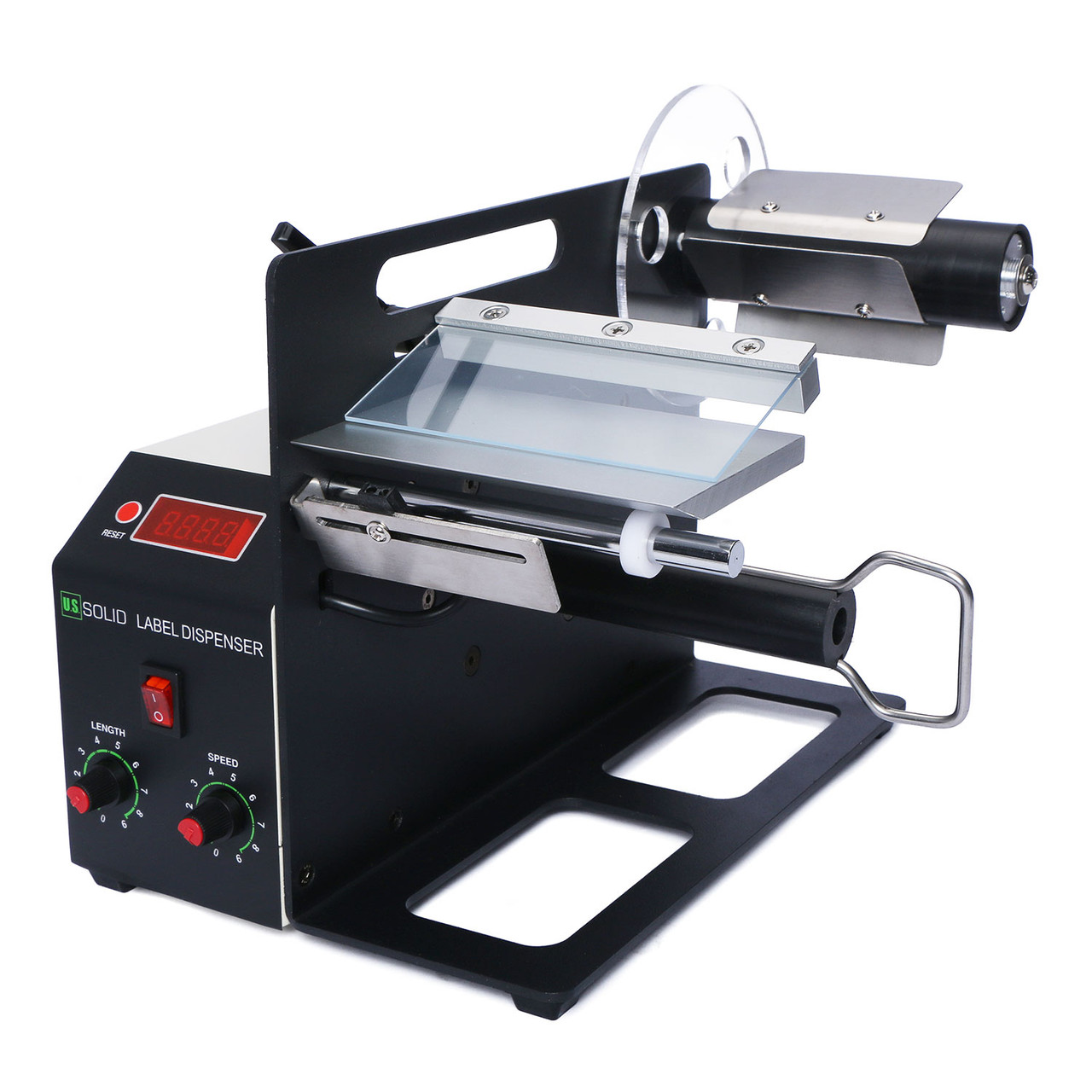 U.S. Solid Automatic Label Dispenser for 4-120 MM Width, 4-200 MM Length Translucent and Opaque Labels