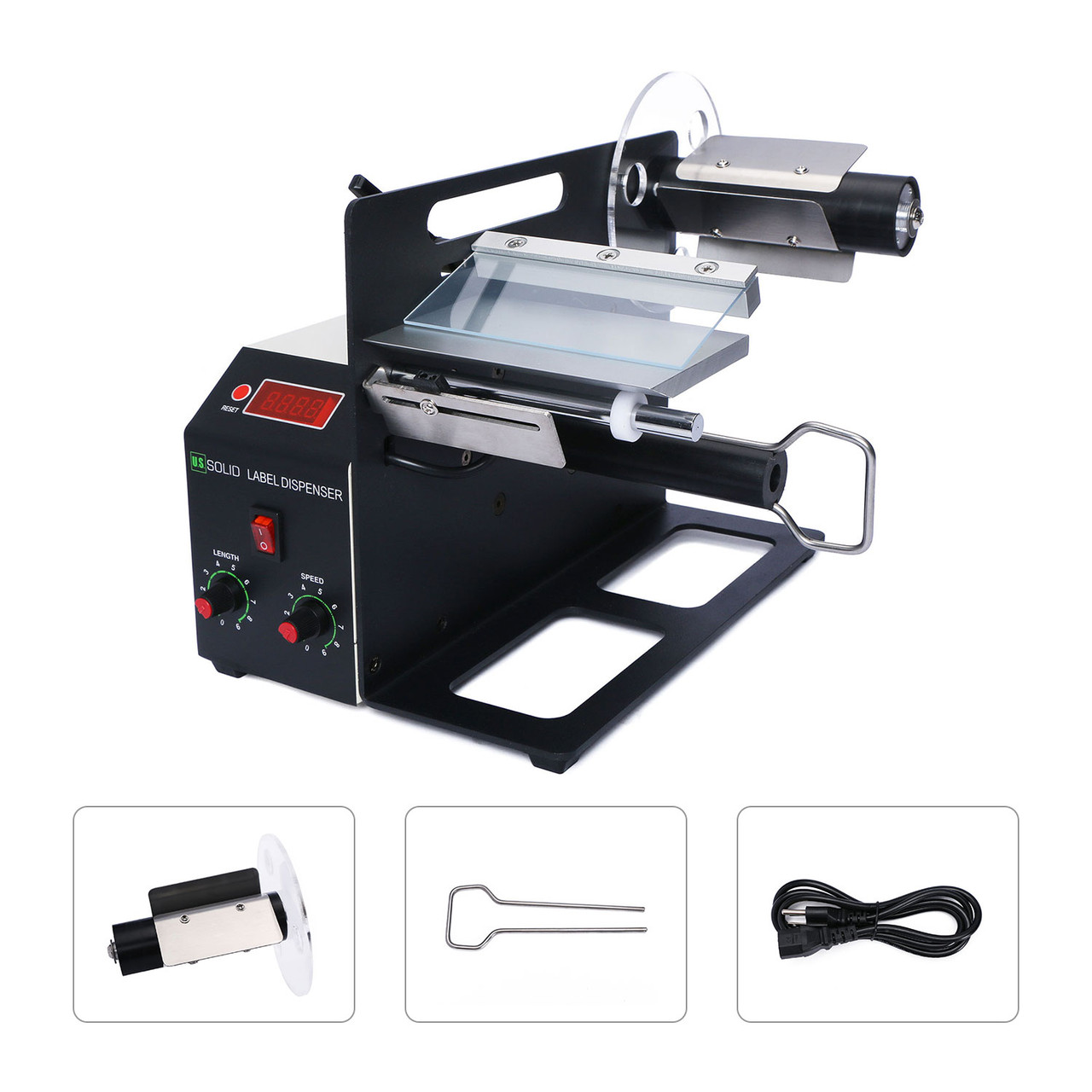 U.S. Solid Automatic Label Dispenser for 4-160 MM Width, 4-200 MM Length Translucent and Opaque Labels