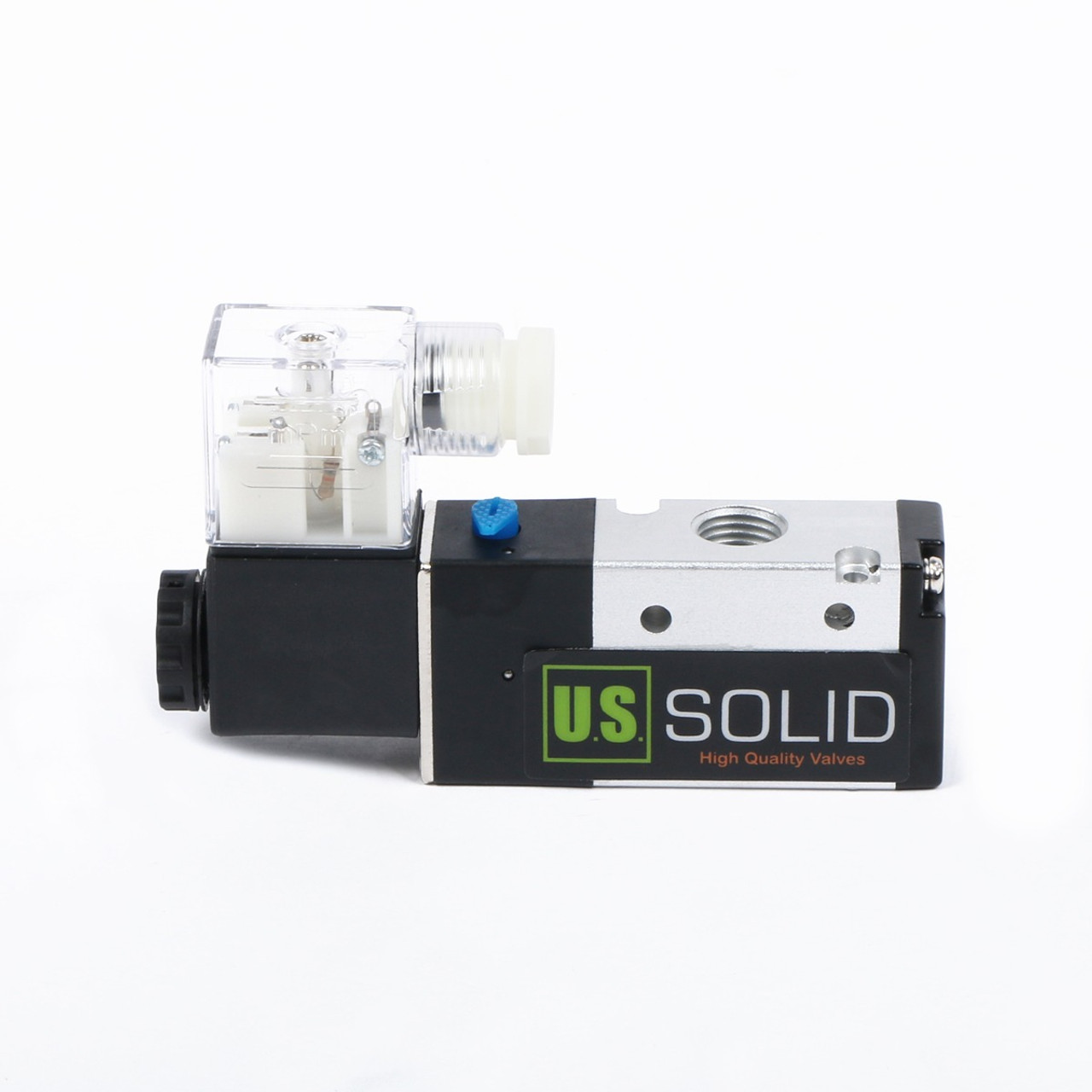 "USSOLID 1/4"" 3 Way 2 Position Pneumatic Electric Solenoid Valve DC 12 V"