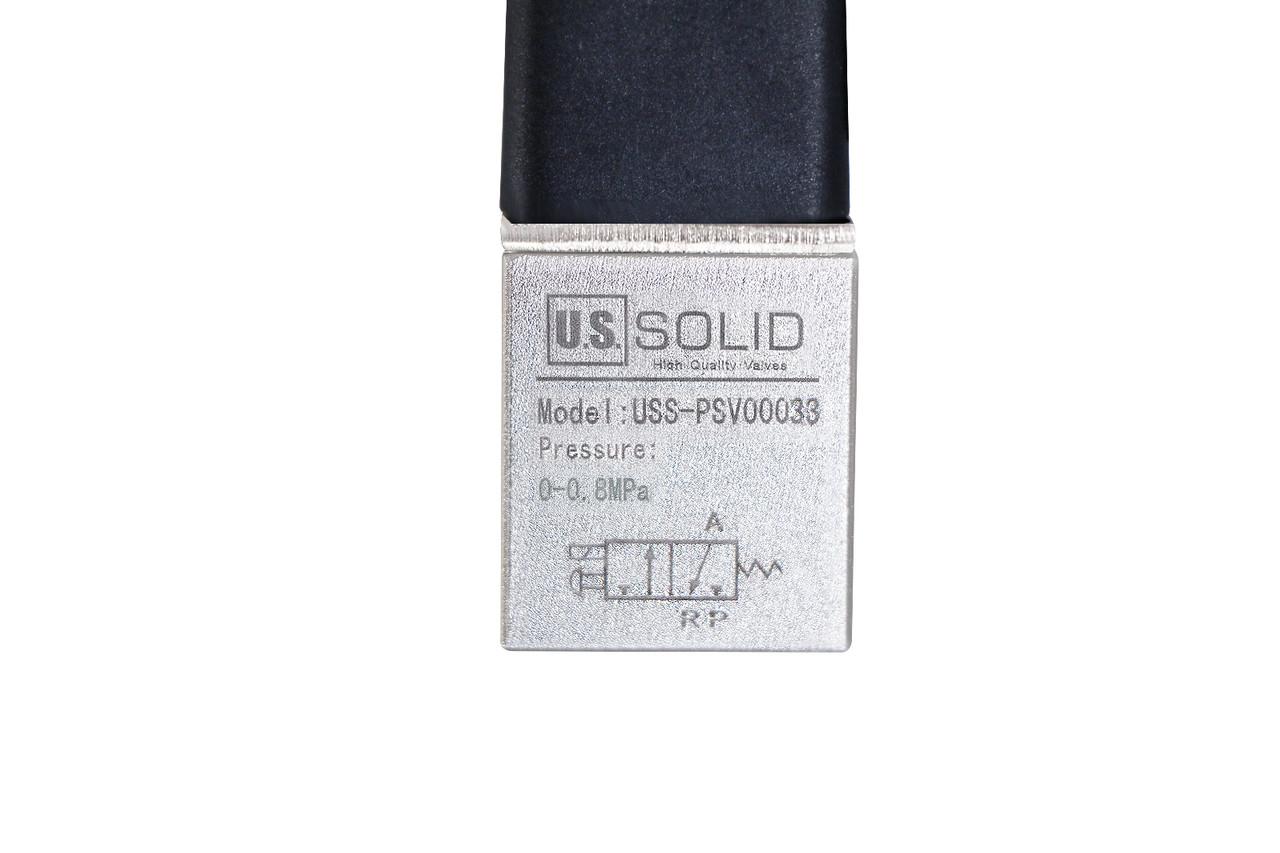 "U.S. Solid 1/8"" 3 Way 2 Position Pneumatic Electric Solenoid Valve DC 12 V"
