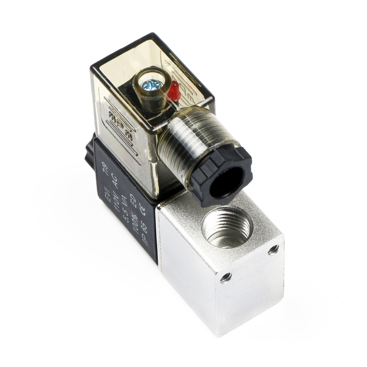 "USSOLID 1/4"" 2 Way 2 Position Pneumatic Electric  Solenoid Valve AC 110 V"