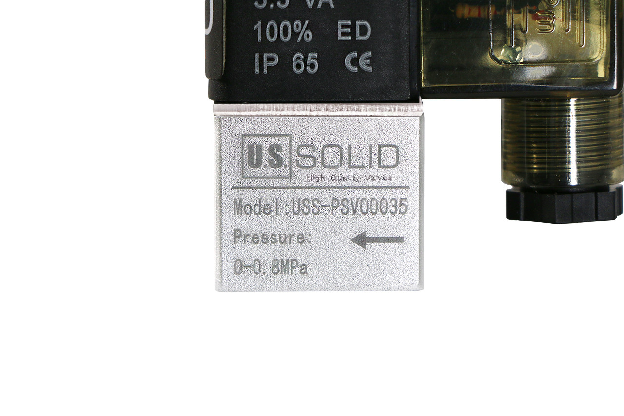 "U.S. Solid 1/4"" 2 Way 2 Position Pneumatic Electric  Solenoid Valve AC 110 V"