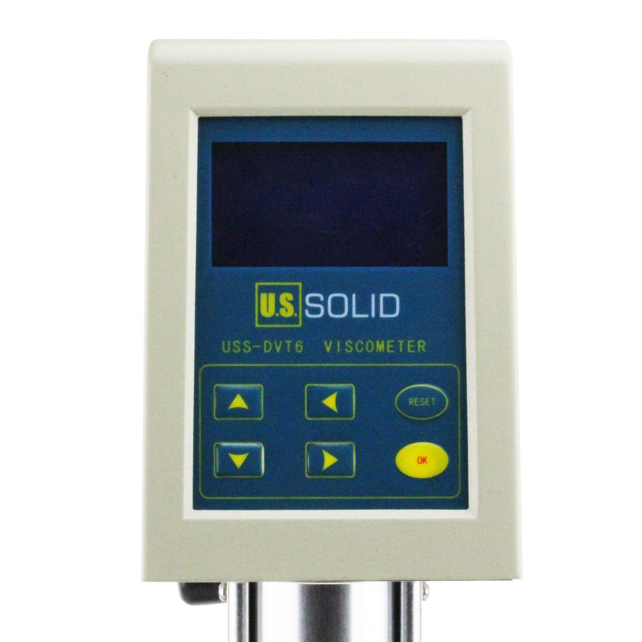 U.S. Solid Rotary Viscometer Viscosity Meter w/ LCD Temperature Display 1-1×100000 mPa·s