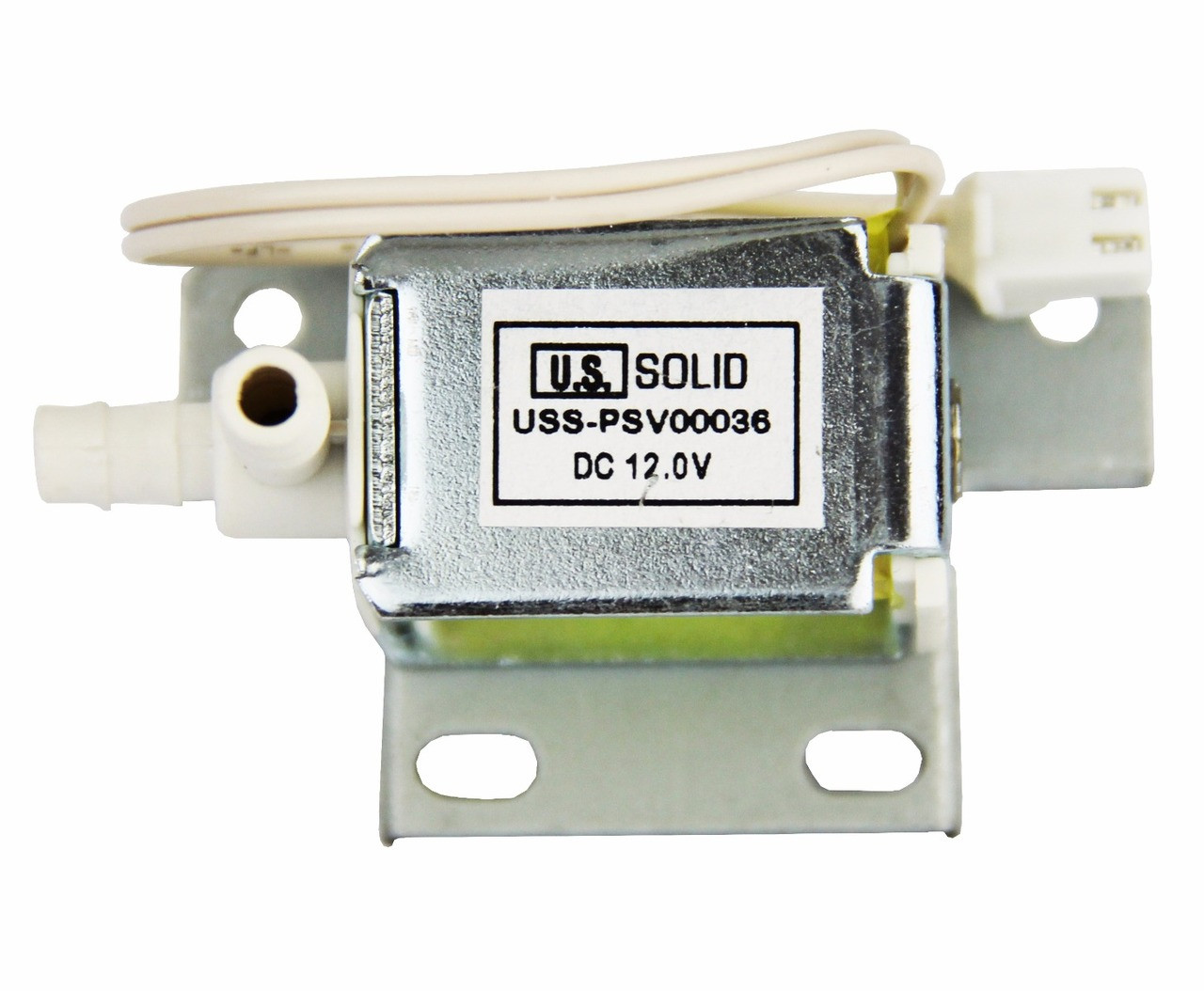 U.S. Solid Two-Way  Angle Mini Air Solenoid Valve DC 12 V