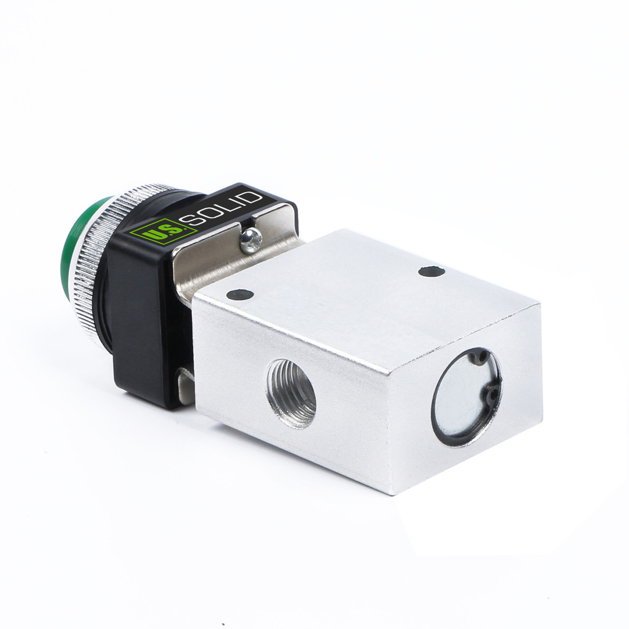 Latching Push Button Normally Closed Pneumatic Air Control Valve 2 Port 2 Way 2 Position 1//8 NPT