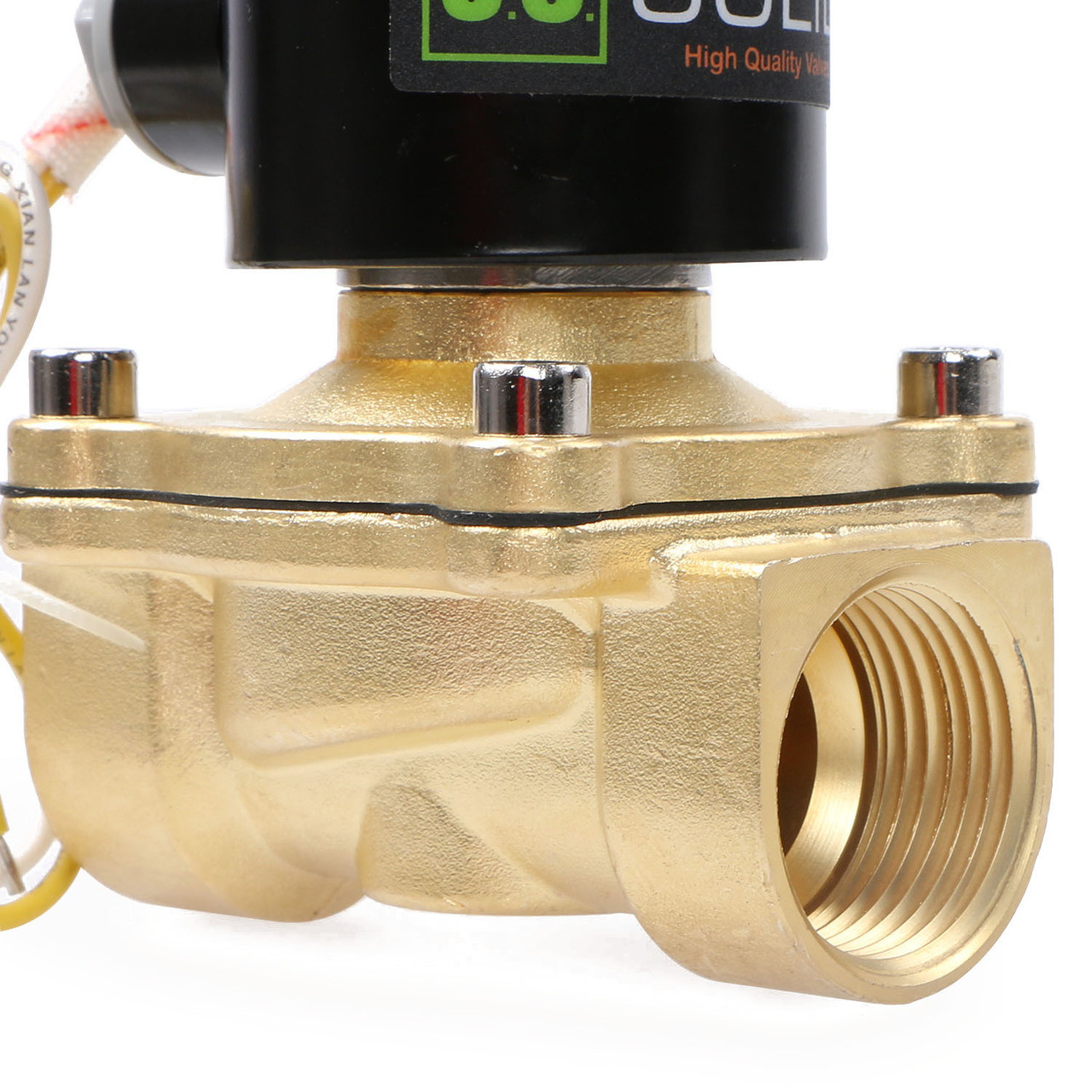 "U.S. Solid Electric Solenoid Valve- 1"" 110V AC Solenoid Valve Brass Body Normally Closed, NBR SEAL"