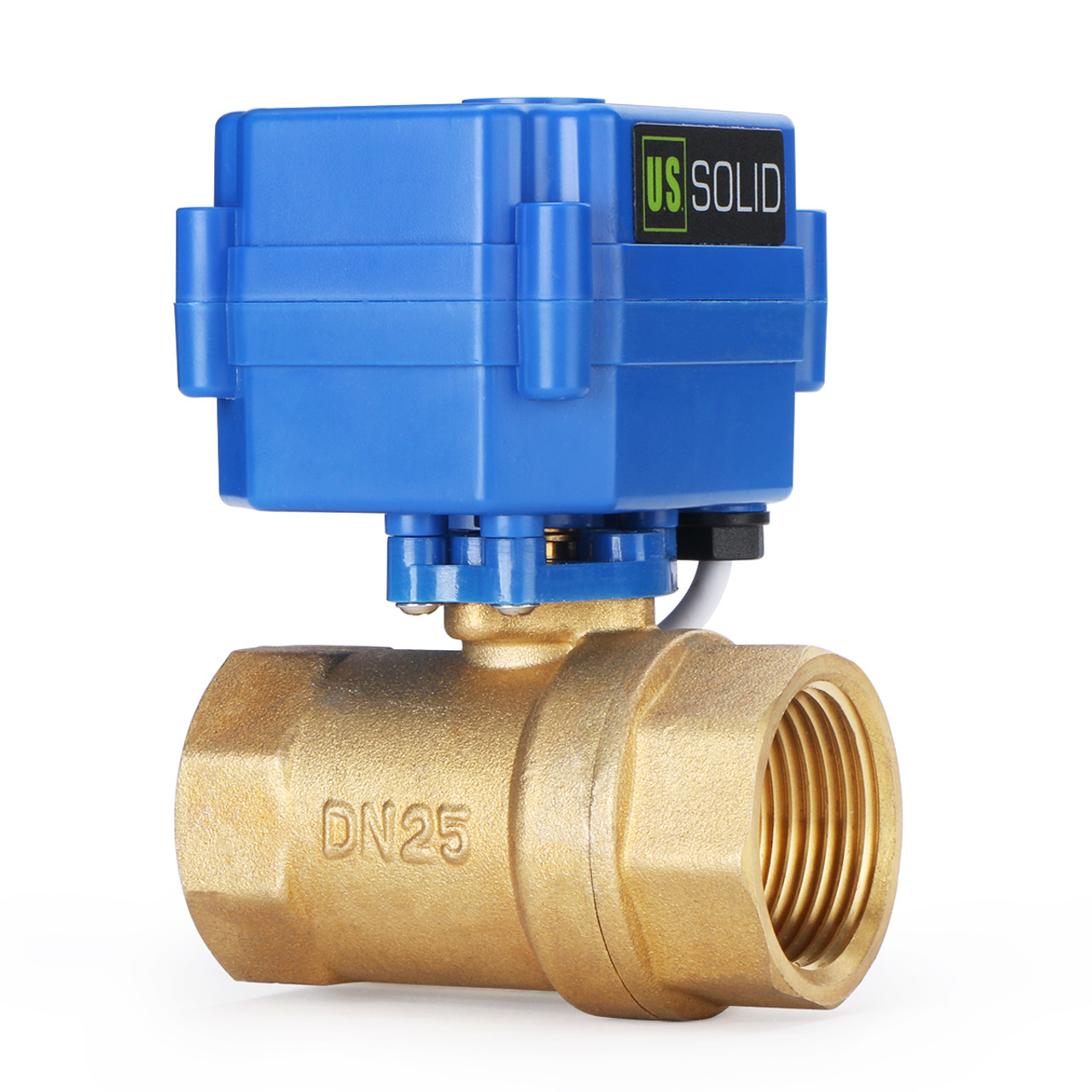 Indicate Open or Closed Position 9-24V DC 5 Wire Setup Motorized Ball Valve- 1//2 Brass Electrical Ball Valve with Full Port Solid can be used with Indicator Lights, by U.S