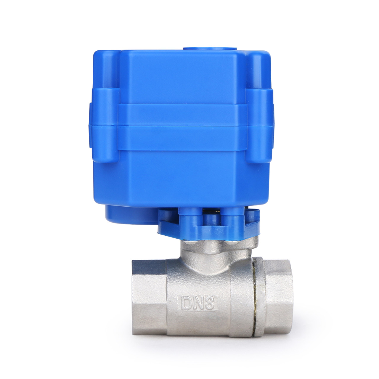 """U.S. Solid Motorized Ball Valve- 1/4"""" Stainless Steel Electrical Ball Valve with Full Port, 9-24 V DC, 2 Wire Reverse Polarity"""