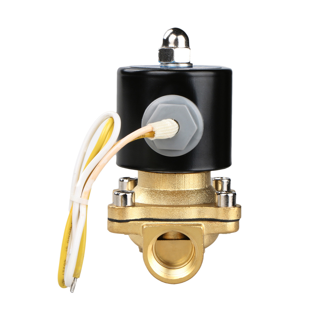AC220V Brass Two-Way Normally Closed Solenoid Valve for Air Water Steam Electric Solenoid Valve